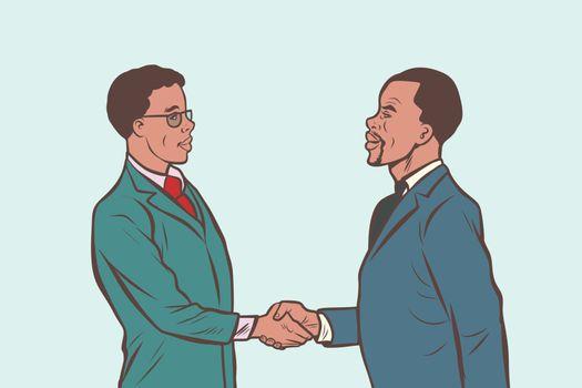 African businessmen handshake deal