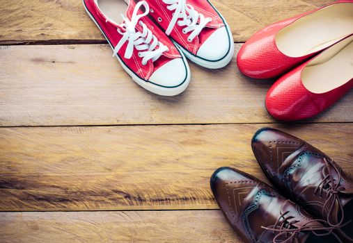 Placed on a wooden shoe styles - lifestyles