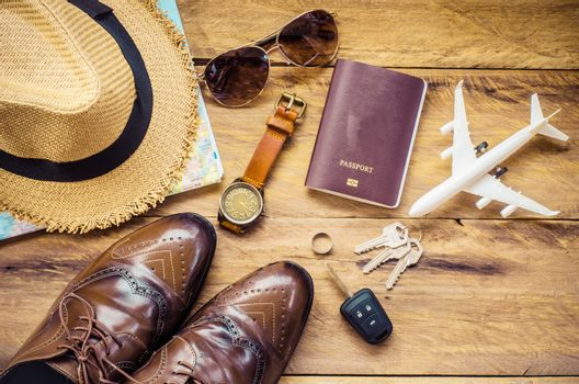 Travel accessories apparel along for the trip