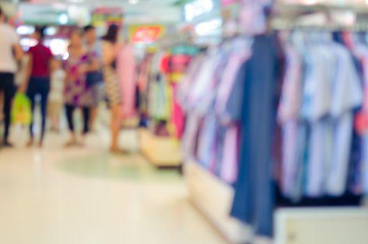 blur apparel in the mall