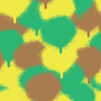 Vector camouflage seamless pattern. Trendy endless unique wallpaper with design elements graffiti  spray paint