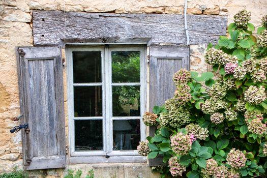 rustic wooden window