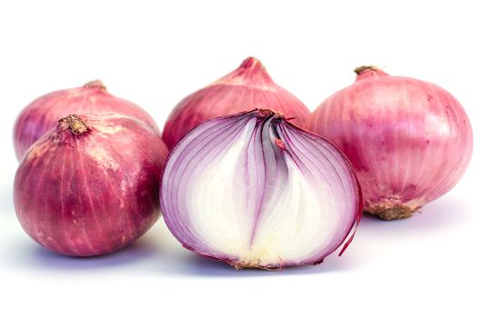 Onion vegetable ingredient on white background