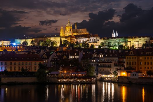 Old Prague in evening