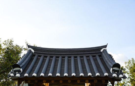 Korean style roof