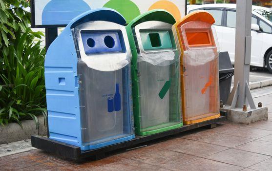 Recycle bin to separate waste before disposing.