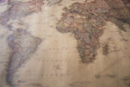 Blurred of  world map