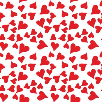seamless pattern with red heart for valentine day. vector