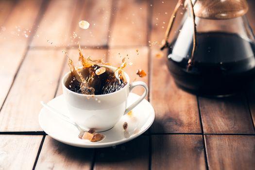 Coffee tabletop scene