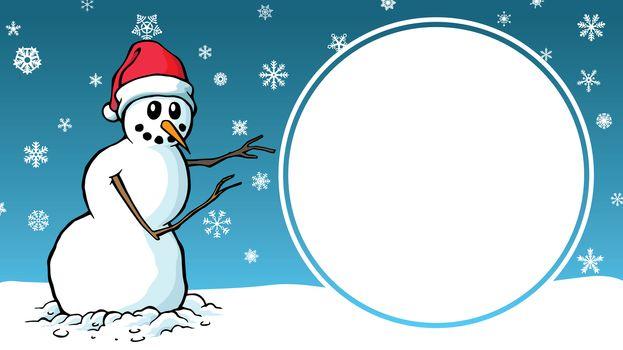 Christmas Sale cartoon snowman design advertising template sign