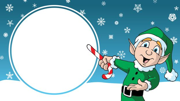 Christmas Sale cartoon santas elf design advertising template sign