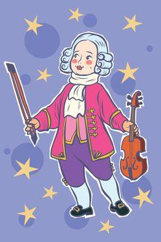 baby violinist musician little mozart