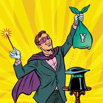 Magician with yen money
