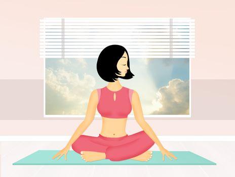 illustration of asana yoga pose
