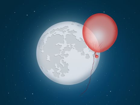 balloons in the moonlight