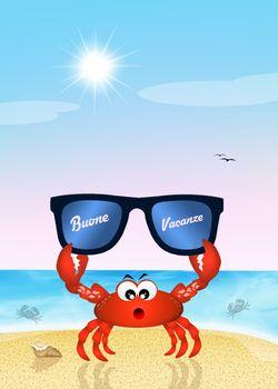 illustration of summer holidays