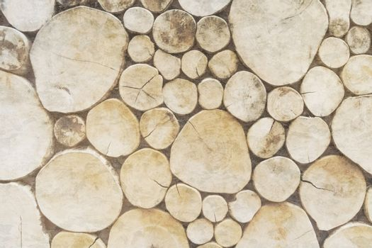 Woodpile of mixed firewood vintage texture