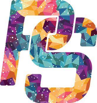 overlap initial letter alphabet sign symbol