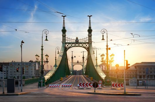 Morning sun and bridge