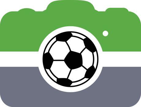 soccer football camera photography application vector