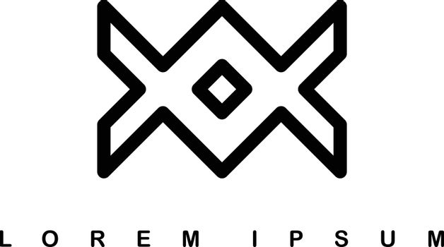 infinity overlap line art template logo logotype