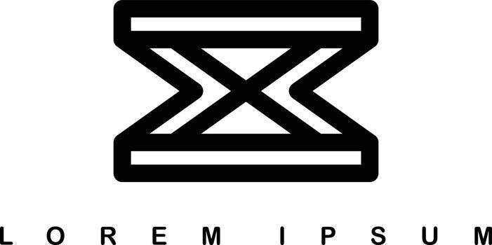 overlap line art template logo logotype alphabet letter x
