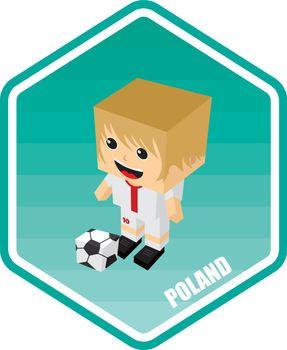 soccer isometric theme poland