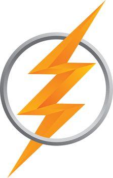 orange thunder bolt sign logo