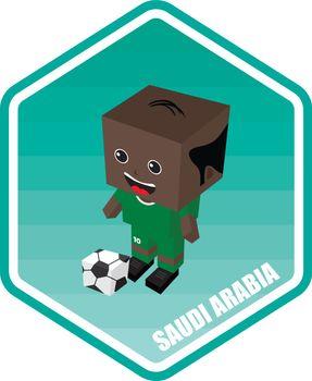saudi arabia soccer isometric theme