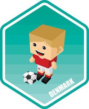 soccer isometric theme denmark