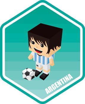 soccer isometric theme argentina