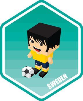 soccer isometric theme sweden