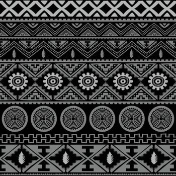 seamless native pattern background vector art illustration