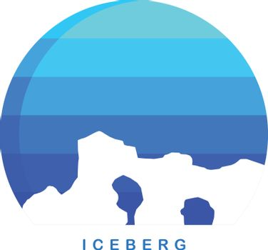 antarctica theme ice berg logo template