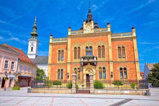 Novi Sad square and church architecture view, Vojvodina region of Croatia