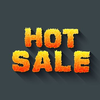 Fire hot sale text on a red background concept. Vector design concept illustration