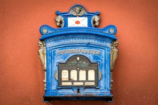 Historic letterbox in Noerdlingen