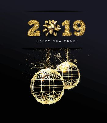 Congratulations on the 2019 happy new year. Holiday Gifts. Vector