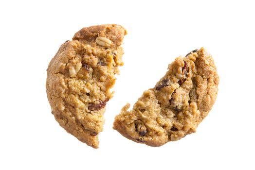 Oatmeal raisin cookies broken