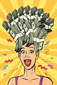 woman dream about money
