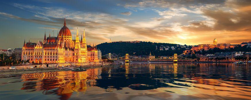 Beautiful view of Budapest