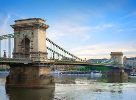 Chain bridge on Danube