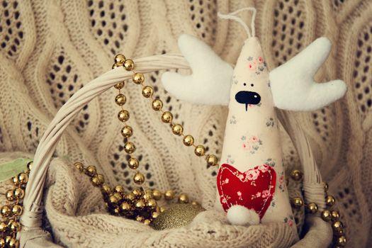 Handmade deer for Christmas or Valentine day. photo