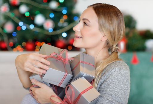 Receiving Christmas gifts