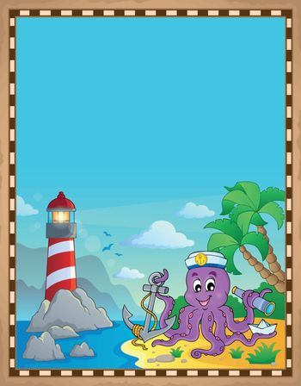Parchment with octopus sailor