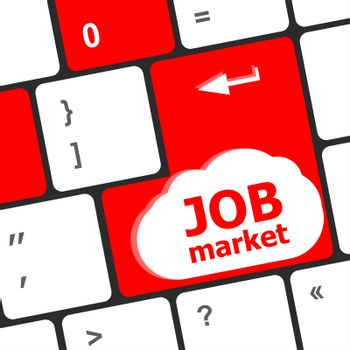 Job market key on the computer keyboard