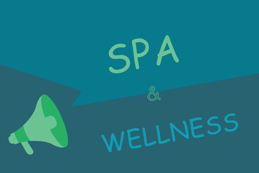 Writing note showing Spa and Wellness. Business photo showcasing Place where people go to improve their health Relaxation.