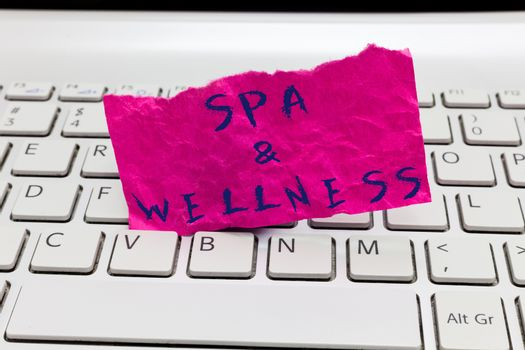Word writing text Spa and Wellness. Business concept for Place where people go to improve their health Relaxation.