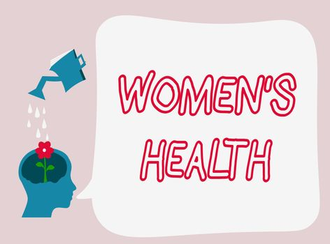 Text sign showing Women s is Health. Conceptual photo Women's physical health consequence avoiding illness.