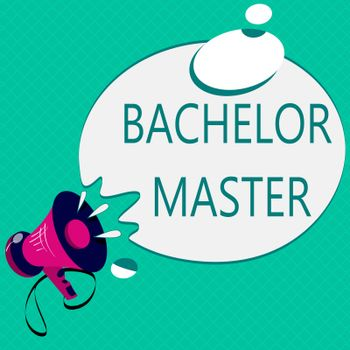 Conceptual hand writing showing Bachelor Master. Business photo text An advanced degree completed after bachelor's degree